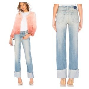 """MOTHER """"The duster cuff fray"""" jeans"""